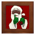 African Santa Clause Christmas Framed Tile
