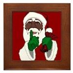 African Santa Clause Christmas Framed Tile