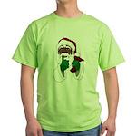 African Santa Clause Christmas Green T-Shirt