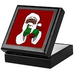 African Santa Clause Christmas Keepsake Box
