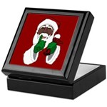 African Santa Clause Christmas Keepsake Box