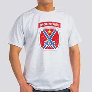 10th Mountain - Distressed Light T-Shirt