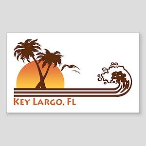 Key Largo Rectangle Sticker