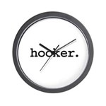 hooker. Wall Clock