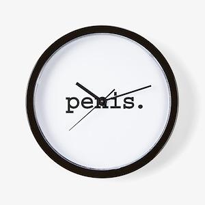 penis. Wall Clock