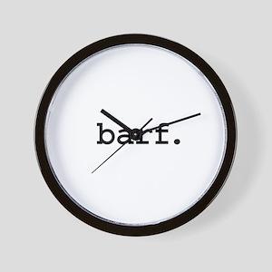 barf. Wall Clock