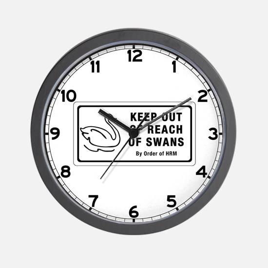 Keep Out of Reach of Swans, Canada Wall Clock