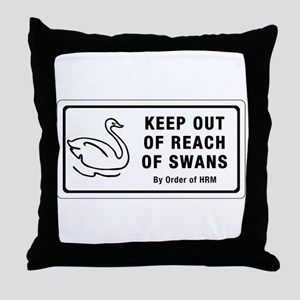 Keep Out of Reach of Swans, Canada Throw Pillow