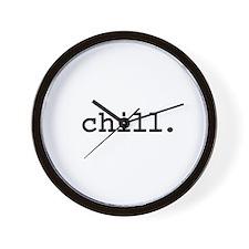 chill. Wall Clock