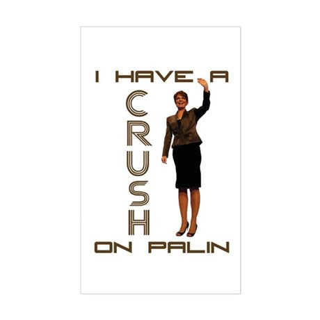 Crush on Palin - 2 Rectangle Sticker