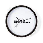 metal. Wall Clock