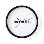 moron. Wall Clock