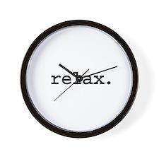 relax. Wall Clock