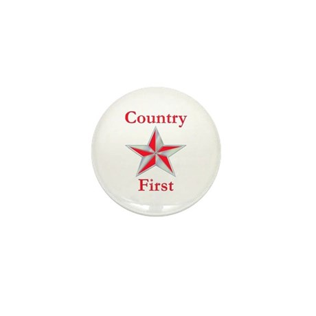 Country First Mini Button (100 pack)