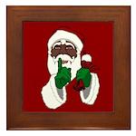 African Santa Clause Framed Tile