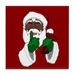 African Santa Clause Tile Coaster