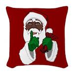 African Santa Clause Woven Throw Pillow
