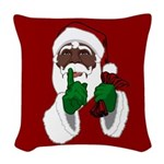 African Santa Clause Woven Throw Pillow