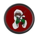 African Santa Clause Large Wall Clock