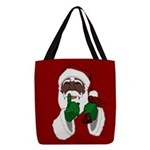 African Santa Clause Polyester Tote Bag