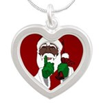 African Santa Clause Necklaces