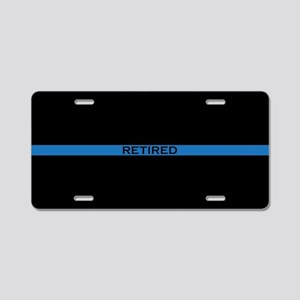 Retired Thin Blue Line Aluminum License Plate