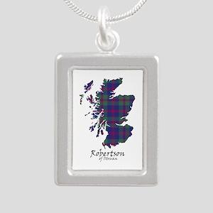 Map-RobertsonStruan Silver Portrait Necklace