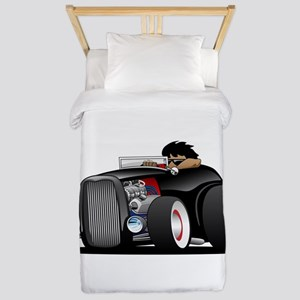 Hi-boy Hot Rod Twin Duvet Cover