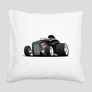Hi-boy Hot Rod Square Canvas Pillow