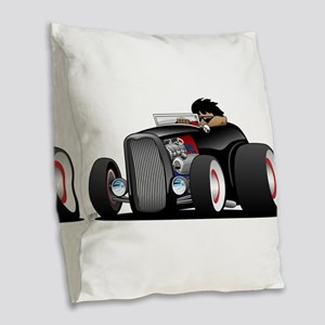 Hi-boy Hot Rod Burlap Throw Pillow