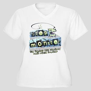 Step Monster Women's Plus Size V-Neck T-Shirt