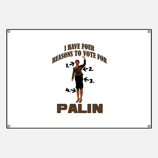 4 Reasons for Palin Banner