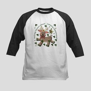 Reindeer (Irish/English) Kids Baseball Jersey