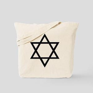 Black Star of David Tote Bag