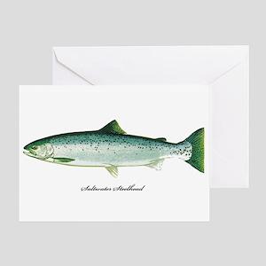 Wild Saltwater Steelhead Fish Greeting Card