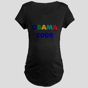 OBAMA 2008 Maternity Dark T-Shirt