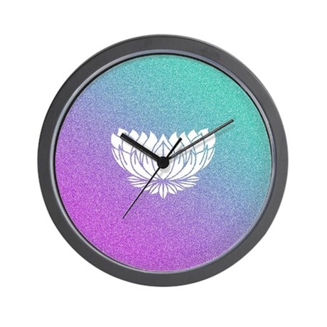 Lotus Flower Wall Clock By Cpwm3