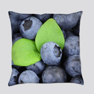 Blueberries & Leaves Everyday Pillow