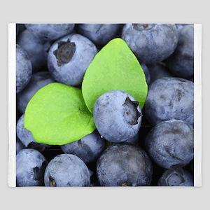 Blueberries & Leaves King Duvet