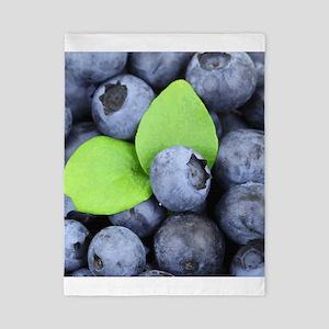 Blueberries & Leaves Twin Duvet Cover
