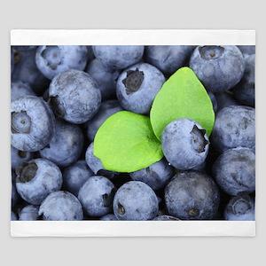 Blueberries & Leaf King Duvet