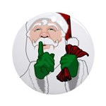 Santa Clause Christmas Round Ornament