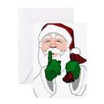 Santa Clause Christmas Greeting Cards