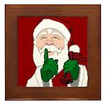 Santa Clause Christmas Framed Tile