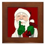 Santa Clause Christmas Framed Tile