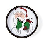 Santa Clause Christmas Wall Clock