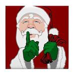 Santa Clause Christmas Tile Coaster
