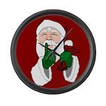 Santa Clause Christmas Large Wall Clock