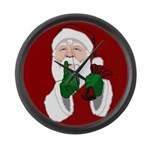 Santa Clause Christmas Large Wall Clock