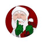 """Santa Clause Christmas 3.5"""" Button"""